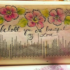 Solomon 4:1  /  paintingwithbev