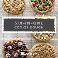 Make 6-in-1 Cookie Dough For a Variety of Cookies #darbysmart #recipes #desserts #baking #sweets #cookies #cookiedough #cookiedecorating #sugar