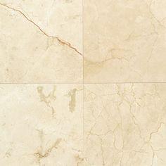 "Daltile M1212L Marble Collection - 12"" x 12"" Square Multi-Surface Tile - Polishe Crema Marfil Classico Tile Multi-Surface Tile Field Tile"