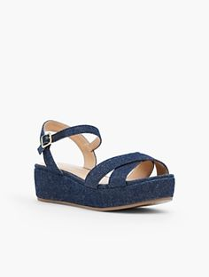 Talbots - Gabriella Espadrille Platforms-Denim |  |  Discover your new look at Talbots. Shop our Gabriella Espadrille Platforms-Denim for stylish clothing and accessories with a modern twist at Talbots
