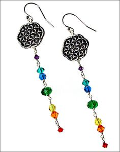 Flower of Life Chakra Suncatcher Earrings | Jewelry Design Ideas