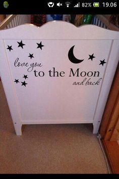 Wallsticker on baby bed!
