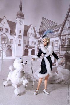 Коллекционные куклы ручной работы. Ярмарка Мастеров - ручная работа. Купить Дама с королевским пуделем. Handmade. Дама с собачкой