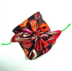 MaiTai's Picture Book: How to wear an Hermes Gavroche/pocket square scarf in a flower knot
