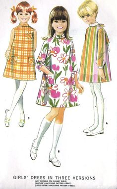 1960s Girls A Line Dress Vintage Sewing Pattern by MissBettysAttic, $6.00