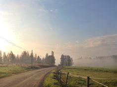 Syksyinen kuulas aamu Jämsässä. Syyskuu 2014.