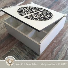 Product Template Laser cut sorting wooden box. Online store, free designs every day @ shop-msl.com