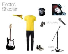 """""""Life with Emo Bands- Killjoy Outfit #3- Mason Munroe\Electric Shooter"""" by mackenzie-lynn-ann-lilly ❤ liked on Polyvore featuring Yves Saint Laurent, Romeo Gigli, Aspinal of London, Converse, Beta Fashion, Audio-Technica, men's fashion and menswear"""