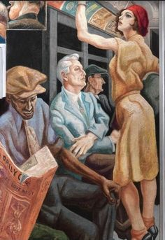 "Detail from Mural ""America Today"" 1930-31 by Thomas Hart Benton"