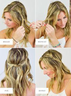 festival hair ideas, boho braids, princess braids, hair tutorial