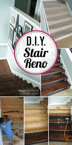 WOW, WOW, WOW! This DIY staircase makeover was accomplished in a weekend and looks like a professional job! This tutorial makes this DIY stair renovation look totally doable.