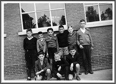 Klasfoto 1960. Valère Vandoren, Geert Claesen,Callie Vandecatsbeek, Jef Devlo, Gerard Sourbron, Toine Holsteens, Milke Vanroy, Maurice Vliegen en Jefke Vissers.
