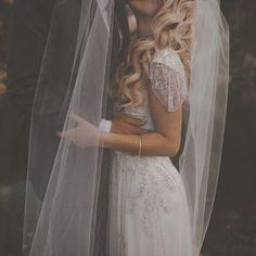 modest wedding dress beaded sleeves. #Wedding #Dress #Photography