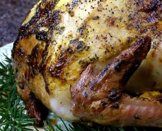 Brined Lemon-Herb Aioli Style Mayonnaise Roasted Turkey