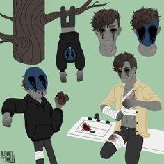 Creepy Pasta Family, Eyeless Jack, Dhmis, Ben Drowned, Laughing Jack, Creepypasta Characters, Jeff The Killer, Creepy Art, Weird Facts