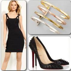 Un look super sexy y elegante con el que dejarás fascinado a tu pareja el día #SanValentin. #vestidonegro #stilettos @Christian Louboutin y #pulsera #moda #fashion #valentineslook #tipsdecamila #Padgram