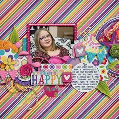 Lena Gardner's Gallery: Happy ~ isn't this just fantastic! Lena is one of the most talented scrappers I know....not to mention MY FAVORITE DESIGNER EVER!  She and her sister are just phenomenal!