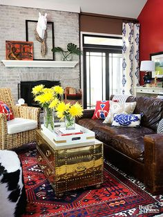 Eclectic can be oh-so-wrong, but it can also be oh-so-right (i.e. this living room).