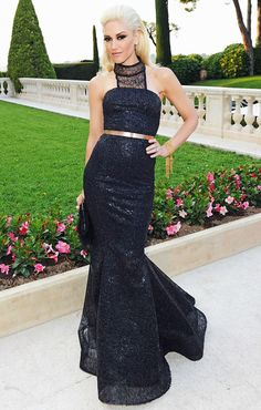 Gwen Stefani at amfAR's Cinema Against AIDS Gala during the Annual Cannes Film Festival at Hotel Du Cap Gwen Stefani And Blake, Gwen Stefani Style, Celebrity Dresses, Celebrity Style, Beautiful Dresses, Nice Dresses, Formal Dresses, Gorgeous Dress, Club Dresses