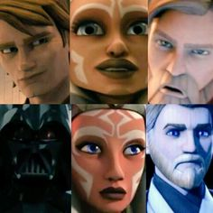 Clone Wars to Rebels. Then and Now. Anakin... >> this broke my heart. Ahsoka goes from 'Snips' to an adult. Obi-Wan goes from sarcastic to grim. And Anakin.....*sobs*