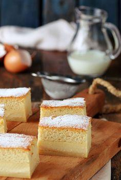 Kanela and lemon: Intelligent Cake My Recipes, Sweet Recipes, Cake Recipes, Cooking Recipes, Cookie Desserts, Sweet Desserts, No Bake Desserts, Magic Custard Cake, Coconut Banana Bread