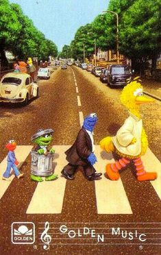 The Beatles, Abbey Road: Sesame Street Abbey Road, Sesame Street Muppets, Sesame Street Characters, Beatles Art, The Beatles, The Muppet Show, The Muppets, Oscar The Grouch, Muppet Babies