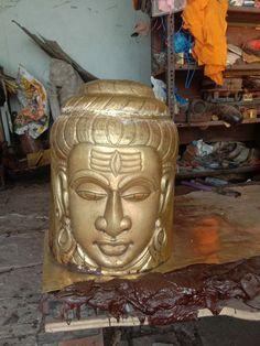 Brass Metal, Buddha, Jar, Statue, Home Decor, Decoration Home, Room Decor, Home Interior Design, Sculptures
