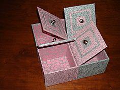 DIY quadri boite rose