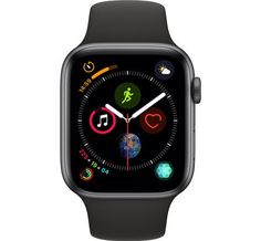 Apple Watch Series 4 44 mm Space Black Stainless Steel Case with Black Sport Band (GPS + Cellular) Unlocked - for sale online Used Apple Watch, Smart Watch Apple, Apple Watch Series 3, Apple Watch Bands, Black Stainless Steel, Stainless Steel Bracelet, Iphone 5s, Free Iphone, Ecg App