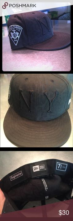 6013f0f36 NY Yankees Supreme Original Supreme NY Yankees hat 7 3/4 hat new era fits  Supreme Accessories Hats