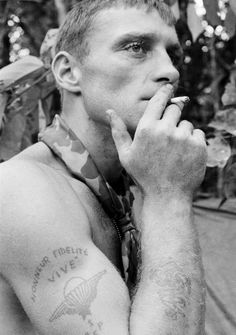 Soldier Captured In Iconic Image From Vietnam Finds Peace After Years Of Struggle: Ruediger Richter served with the German merchant marine and the French Foreign Legion before moving to the U.S. He enlisted in the Army in 1965. - AP photo