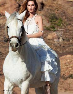Elle Italy March 2014 | Erin Wasson by Matt Jones