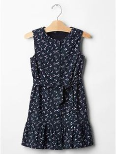 Floral tie-belt dress | Gap
