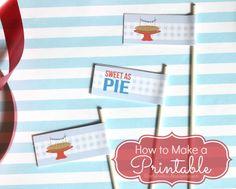 how to make a printable