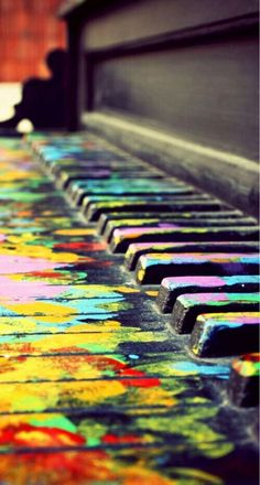 life is like a piano some cords dont sound pretty Others do. sometimes you make a mistake other days you play your story pefect. just like this piano live your life colorful! by nicole kroeger Music Love, Music Is Life, My Music, Color Music, Piano Music, Hippie Music, Music And Art, Music Sing, Hippie Gypsy