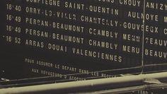 Paris train station schedule ticker