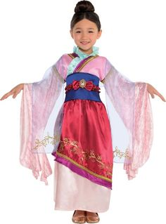 Girls Mulan Costume Classic - Party City