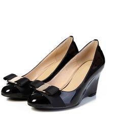 59.85$  Buy here - http://alissc.worldwells.pw/go.php?t=32631845408 - women pumps Wedges high heels genuine leather brand woman wedding valentine shoes size 3-10 sapatos femininos salto alto . DA012