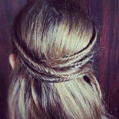 Fishtail hair wrap. #hair #style