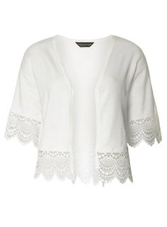 Ivory Lace Trim Kimono