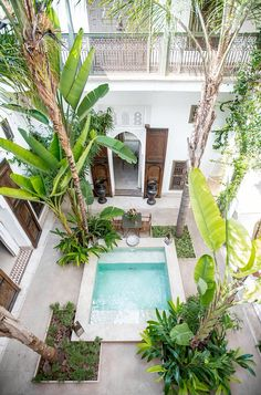 outdoor oasis backyard with pool * outdoor oasis . outdoor oasis on a budget . outdoor oasis backyard with pool . outdoor oasis backyard on a budget . outdoor oasis on a budget diy ideas . Swimming Pool Designs, Swimming Pools, Outdoor Spaces, Outdoor Living, Kleiner Pool Design, Courtyard Pool, Courtyard Ideas, Piscina Interior, Mini Pool