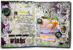 ...but she had wings (Athanasia, Me and Myself) Tags: scrapbooking mixedmedia prima artjournal musicsheet journalbook imaginariumdesigns scrapafricadt