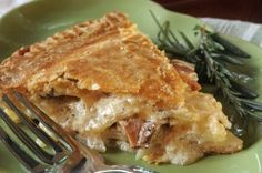 Rosemary Potato and Pepper Bacon Cheese Pie