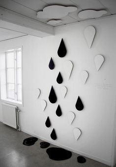 """""""sometimes we fly upwards, sometimes fall downwards...but this is all beautiful experiense.""""  © Eika.  Installation on the wall.  (plywood, acryl)"""