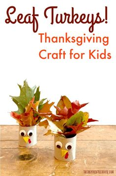 The Inspiredtreehouse - Take a walk outside to gather up some colorful leaves and you'll be on your way to creating these cute little Thanksgiving crafts! thanksgiving crafts Thanksgiving Crafts for Kids: Leaf Turkeys! - The Inspired Treehouse Thanksgiving Crafts For Toddlers, Fall Crafts For Kids, Toddler Crafts, Holiday Crafts, Children Crafts, Daycare Crafts, Thanksgiving Games, Sand Crafts, Rock Crafts