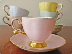 Vintage tea cups,