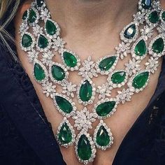 Emerald and Diamond High Jewelry Necklace