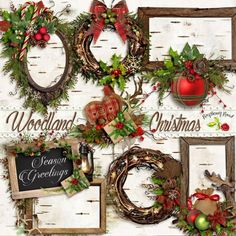 A set of nature themed Christmas clusters designed to coordinate with the Woodland Christmas collection from Raspberry Road.
