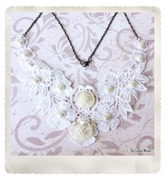 Lace Applique Necklace DIY