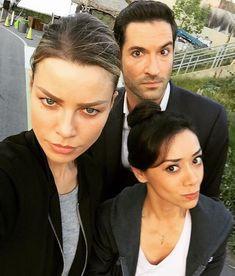 Cast of Lucifer Lauren German, Tom Ellis and Aimee Garcia